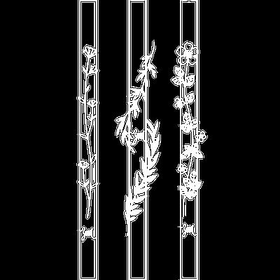 Designer print botanical glass straws from high quality borosilicate glass