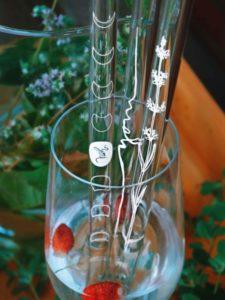 Czech glass straws from borosicilicate glass Yoni