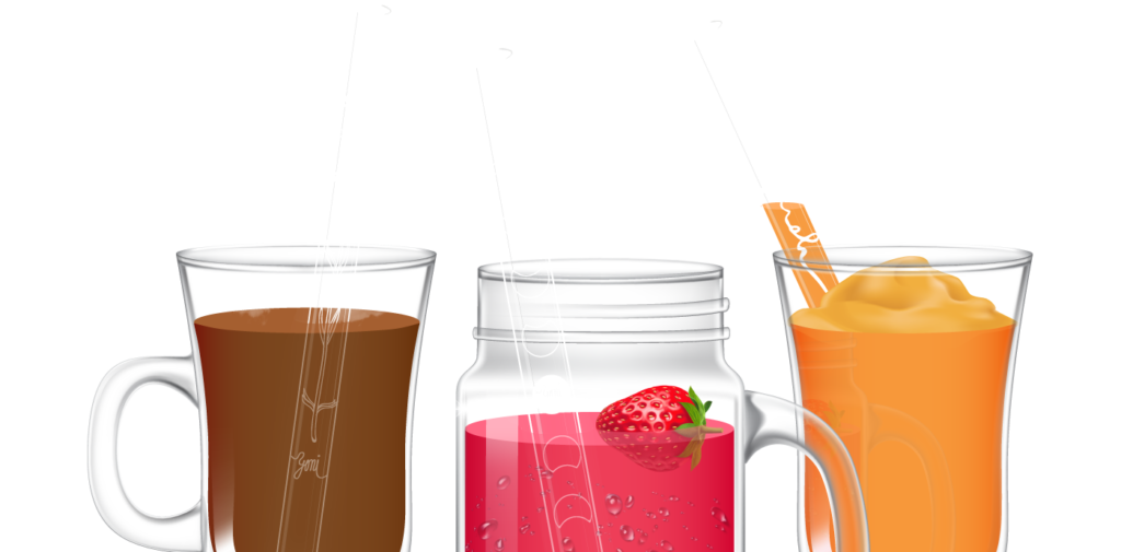 Ecological straws made from czech glass - pyrex