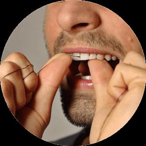 přírodní dentální nit z bambusového uhlí na doplnění