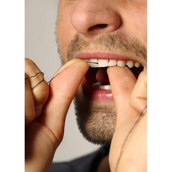 kompostovatelné černá zubní nit