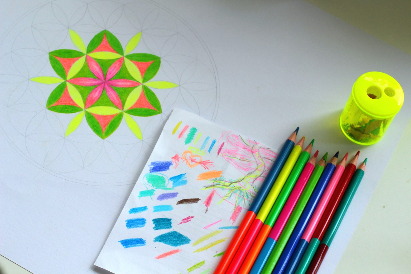drawing of flower of life